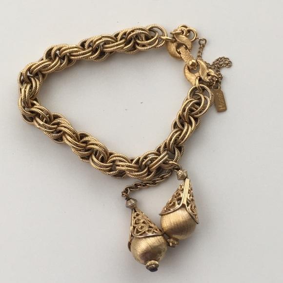 Two Dangling Tassel Chain Link Bracelet